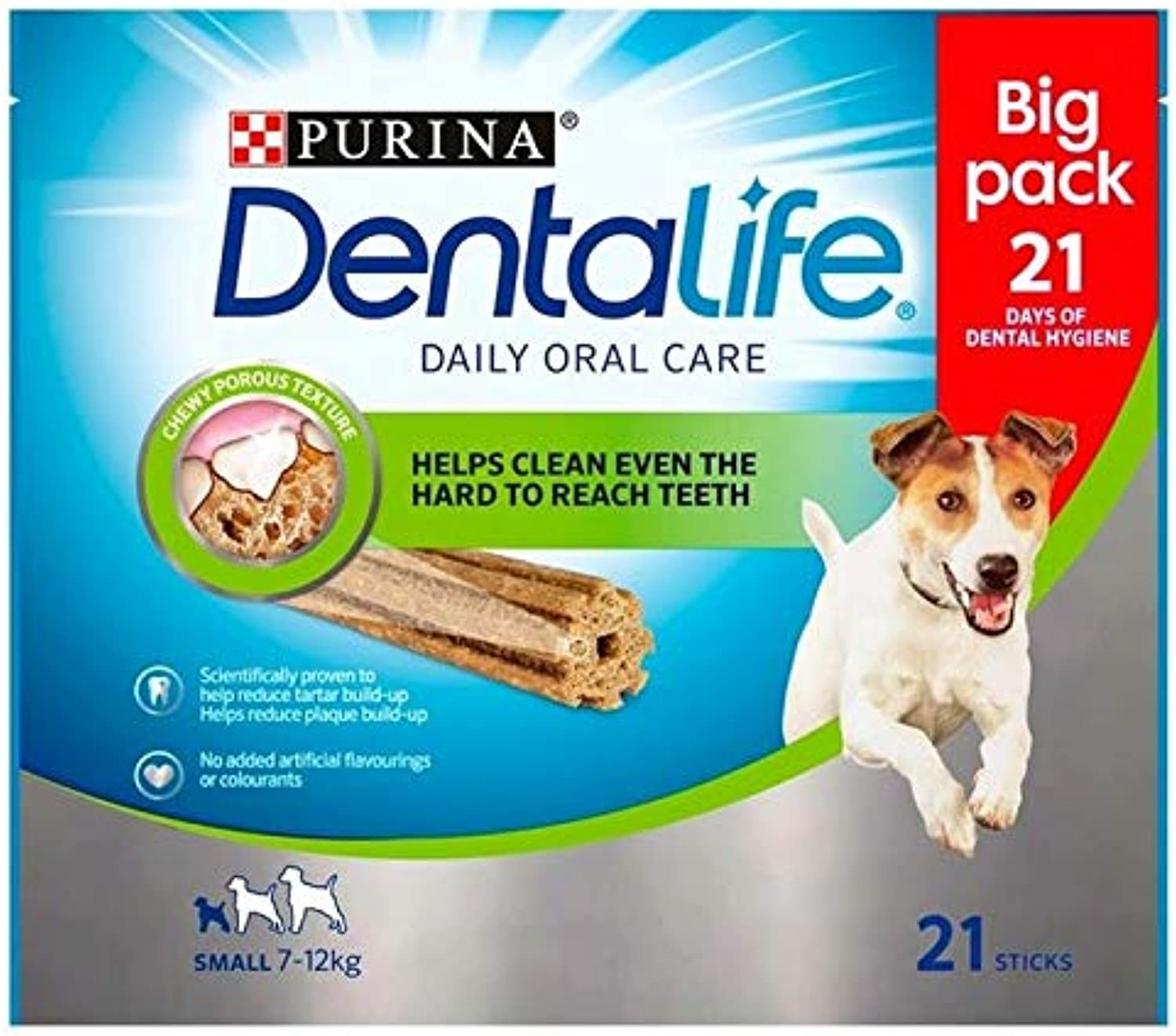 4X DENTALIFE Small Dog Dental Chew 21 x 16g