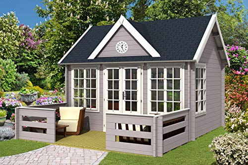 Alpholz Gartenhaus Luxus Clockhouse Royal mit...