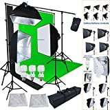 Linco Lincostore Studio Lighting 3 Point Light Backdrop Background Support with Boom Arm Stand and Counterweight AM172