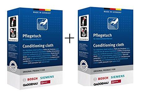 10 Stck. Protect Edelstahl Pflegetuch Reinigungstuch Bosch Siemens Neff Gaggenau