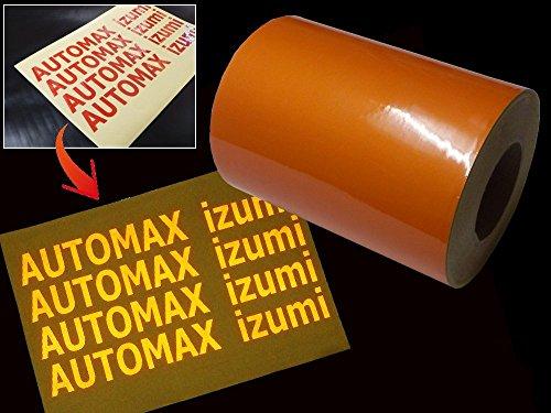 AUTOMAX izumi 反射シート(A4)柿 幅20cm×30cm リフレクトステッカー オレンジ 夜間 光る リフレクター