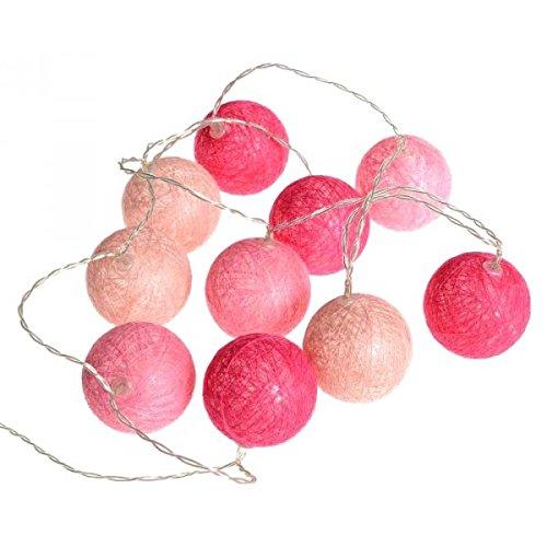 Atmosphera Guirlande Lumineuse 10 Boules LED - Coloris Rose