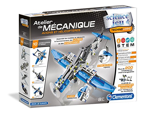 Clementoni - 52225-atelier mechanic - Airplanes and helicoptères-jeu scientist