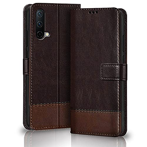 TheGiftKart Dual-Color Leather Finish OnePlus Nord CE 5G Flip Back Cover |...
