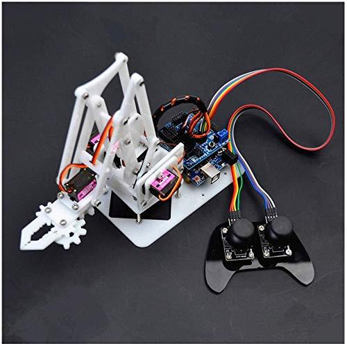 Mnjin DIY programmierbarer Roboter 4DOF Robotic Hand, programmierbarer Roboterarm-Set, Servo, Controller-Griff, Montage und einige Zubehörteile, für Arduino Scratch, STEM-Lernspielzeug