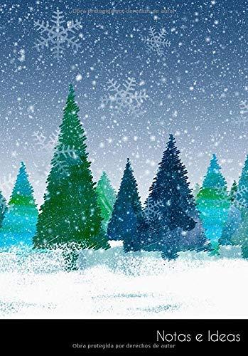 Notas e Ideas: Cuaderno / diario de bala navidad invierno abeto bosque...