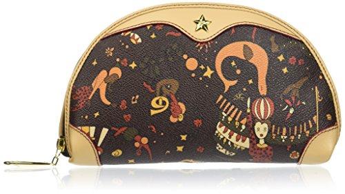 PIERO GUIDI Necessaire, Organiseurs de sacs à main femme, Marron (Testa Di Moro), 20x12x4 cm (W x H L)