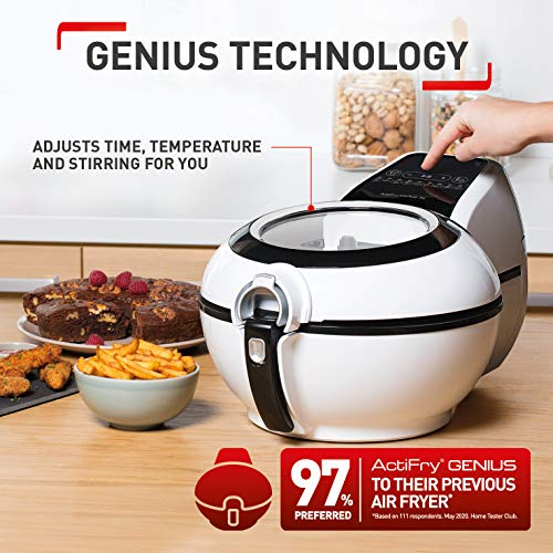 Tefal ActiFry Genius XL AH960040 Health Air Fryer, White, 1.7kg, 8 portions