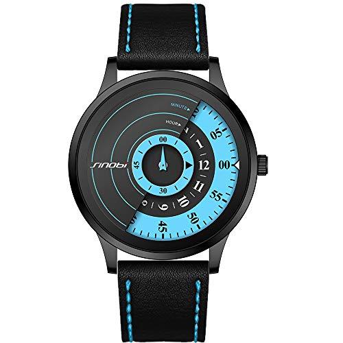 SINOBI Reloj De Cuarzo Deportivo para Hombre con Diseño De Acero Inoxidable y Personalidad De con Pulsera De Malla (S9845G-BLUE)