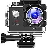 Victure Actioncam Full HD 1080P 12MP 170° Weitwinkel wasserdichte Aktionkameras Unterwasserkamera...