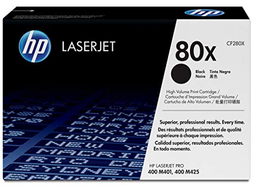 HP 80X CF280X High Yield Original LaserJet Toner Cartridge - Black