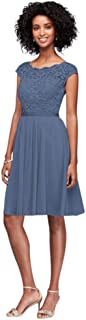 Best short tulle dress with illusion lace neckline Reviews
