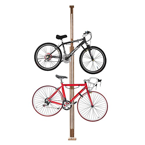 RAD Cycle Woody Bike Stand Bicycle Rack Storage or Display Holds Two Bicycles and is Constructed of Stylish Hard Wood