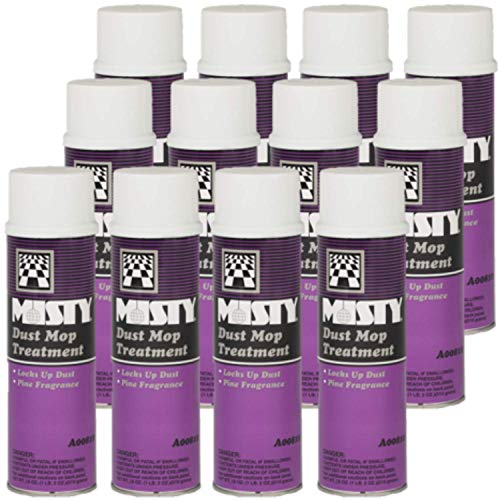 Misty Dust Mop Treatment Spray 18 Oz 1003402 (Case of 12) Janitorial Grade Spray, Acts Like A Dust Magnet