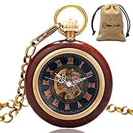 Una volta caricato completamente, può durare fino a 24 ore. Evitare di caricare l'orologio troppo stretto per non danneggiare il movimento. Se si desidera regolare il tempo, si prega di tirare fuori il pulsante sull'orologio per regolare il tempo. Op...