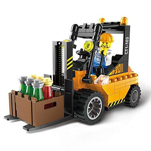 Neue Stadt Baustraße Roller Gabelstapler Traktor Kehrmaschine Bausteine Kinder Spielzeug Kompatibel mit City Bricks Klein Gabelstapler