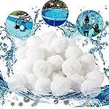 KAKAF 700 g de bolas filtrantes para filtros de arena, bolas de filtro extraduraderas de agua transparente en la piscina, repuesto de arena de cuarzo, filtro de arena de filtro de arena para piscina