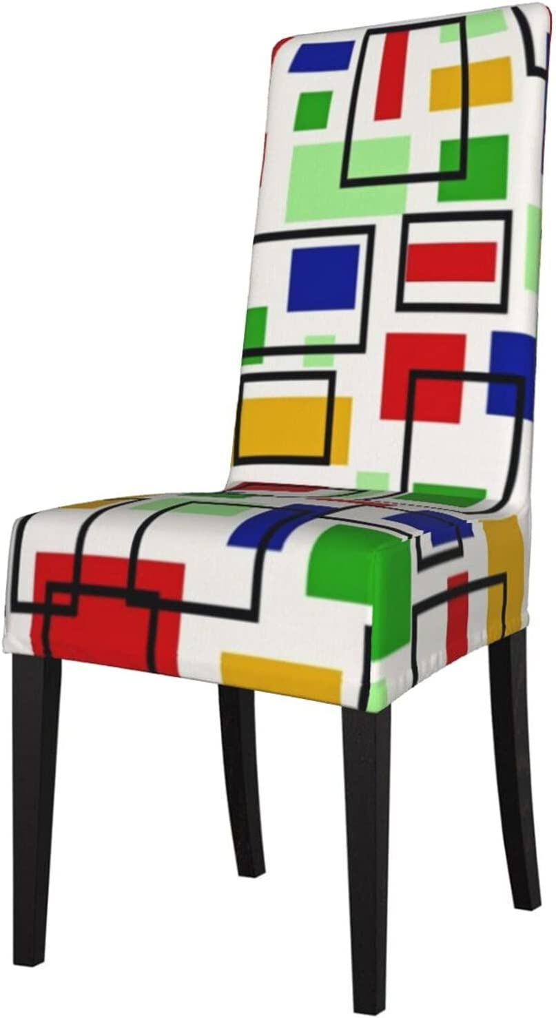 Max 49% OFF QUAVZI 2PCS Stretch Chair Covers for Modern Art Max 41% OFF Dining Room Retr