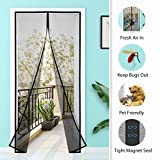 Homitt Magnet 120 x 240cm, Fliegengitter Tür Magnetisch mit Glasfaser Meterial Insektenschutz für...