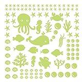 Artículos de decoración para el hogar, adhesivo de pared, diseño de ramadán, color verde