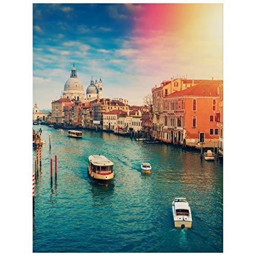 5d Diy Diamond Art Kits für Erwachsene Grand Canal Venedig Italien Farbtonfarbe mit Diamanten Kit Diamond Paintings Kreuzstich Full Drill Arts Craft Leinwand...