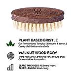 ZEUS 100% Vegan Beard Grooming Set - Vegan Formula Oil, Shampoo, and Conditioner with Natural Plant Fiber Bristle Brush… 6