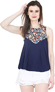 MALLORY WINSTON Flower Print Women's Balloon Top.
