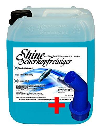5 Ltr. Scherkopfreiniger PE 4,58 € / Ltr. für Braun Reinigungsstationen 3, 5, 7, 9, Auslaufhilfe Braun Clean & Renew Synchro Activator und Pulsonic Series 3/5/7/9,
