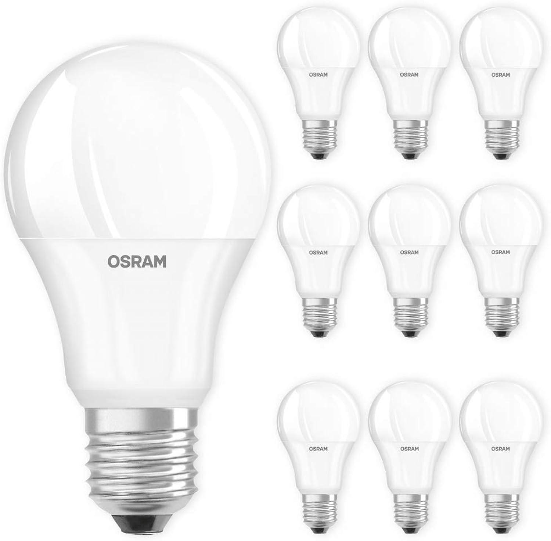OSRAM LED Lampe E27 2700K warmwei Glühlampe Ersatz für 40W 60W 75W 100W Licht Auswahl 10er Set, Leistung 10,5 W   1060 lm (75W) dimmbar