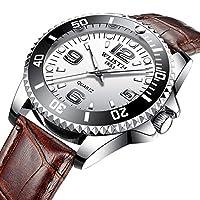 QTMIAO美しい機械式時計 クォーツ腕時計カレンダー発光スチールベルト時計雄 (Color : 4)