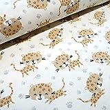 BIO Baumwoll-Jersey Stoff Kimi, der kleine Leopard -