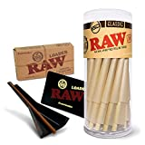 RAW Classic King Size Pre-Rolled Cones Bundle - 50 Pack and Cone Loader