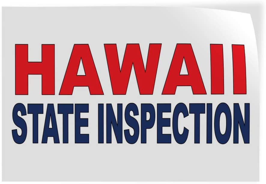 Decal Stickers Multiple Sizes Hawaii I Ranking TOP4 Red free shipping State Inspection Blue