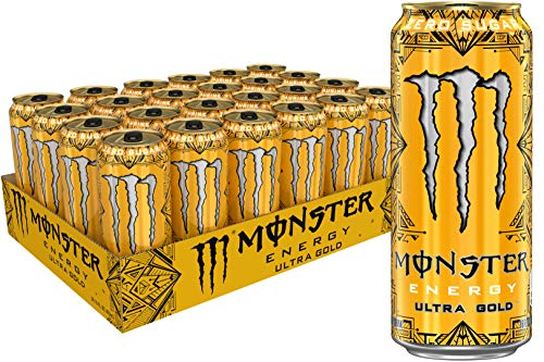 Monster Energy Ultra Gold, Sugar Free Energy Drink, 16 Ounce (Pack of 24)