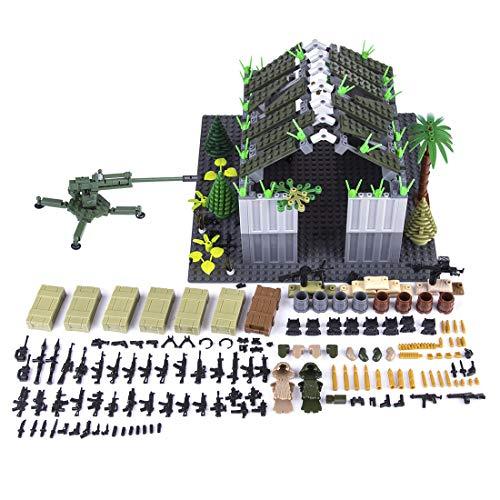 Mecotecn 598 Piezas Bloques de Construcción Militares con Custom Armas para Figuras de Soldados, Mini Figuras - Compatible con Lego