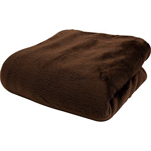 昭和西川 毛布 ブランケット シングル フランネル マイクロファイバー 洗える 静電気防止 ブラウン