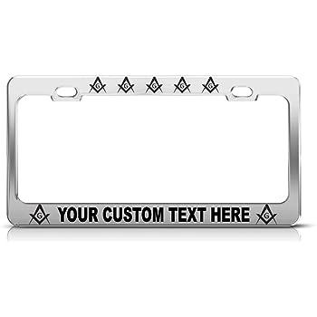 Savage Masonic License Plate Frame Holder