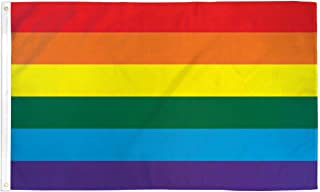 Quality Standard Flags Rainbow Polyester Flag, 3 by 5'