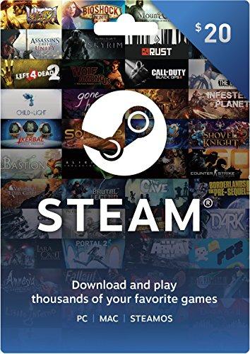 Cartão Virtual Steam R$ 20 - Gift Card