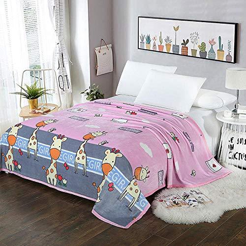 PengMu zachte sofadeken/sprei koraal fluweeldeken, grijze koeien onderhoudsvriendelijk, super warme deken