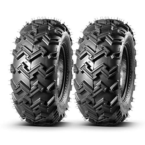 MaxAuto 22x8-10 22x8x10 Front ATV Tires AT Mud Sand All Terrain ATV UTV Tires Turf Tires, 4 Ply Rating Tubeless, Set of 2