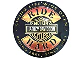 Harley-Davidson Ride Hard Round 14 Inch Tin Sign 2010671