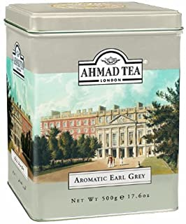 Ahmad Tea Earl Grey Aromatic Loose Tea, Ceylon Caddy, 17.6 Ounce (Premium tea Earl Grey)