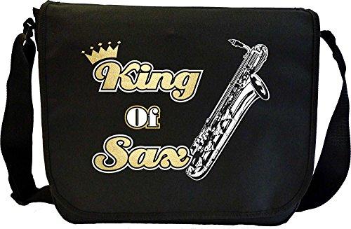 MusicaliTee Saxophone Sax Baritone King - Sheet Music Document Bag Musik Notentasche