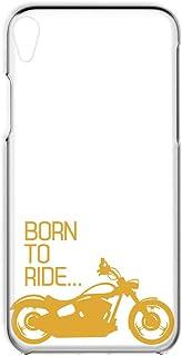 Xperia Z5 SO-01H・SOV32・501SO 対応 スマホケース ハードケース [透明カバー バイク・イエロー] レトロ オートバイ SONY ソニー エクスペリア ゼットファイブ docomo au SoftBank すまほカバー...