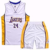 Garçons Filles Maillot De Basketball Short de Basketball Kobe 24# Lakers Maillots...