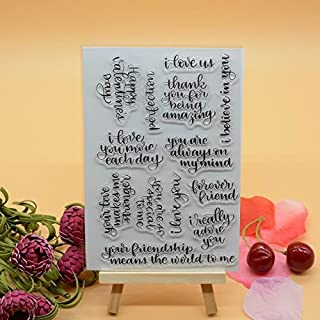 Welcome to Joyful Home 1pc English Letters Rubber Clear Stamp for Card Making Decoration and Scrapbooking