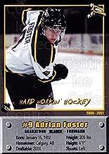 (CI) Adrian Foster Hockey Card 2000-01 Saskatoon Blades 11 Adrian Foster