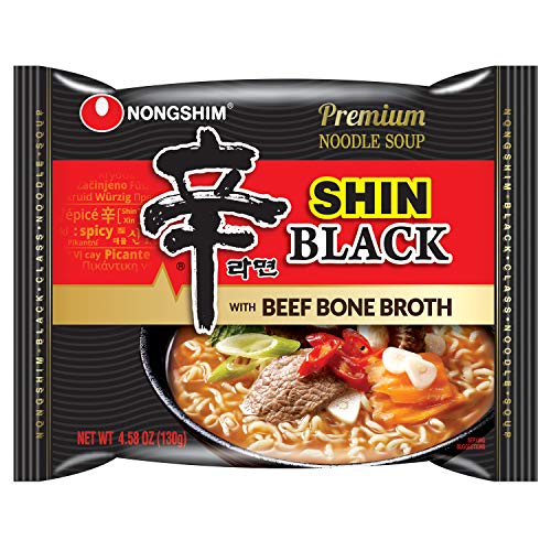Nongshim Shin Black Noodle Soup, Spicy, 4.58 Ounce (Pack of 10)