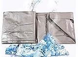 LSN Lonas, tela impermeable acolchado lona lona de plástico tela de lona de la sombrilla de protección solar del coche lona barra de color plata 220G / M², espesor 0,4 mm,A,4 * 4m